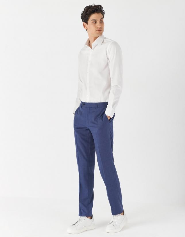 Camisa vestir algodón blanco