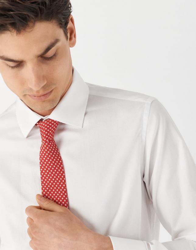 White regular fit dress shirt