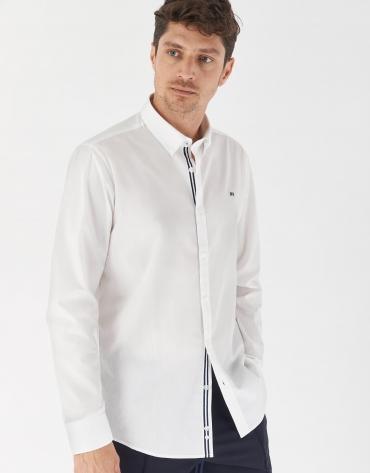 Camisa sport algodón Oxford blanco