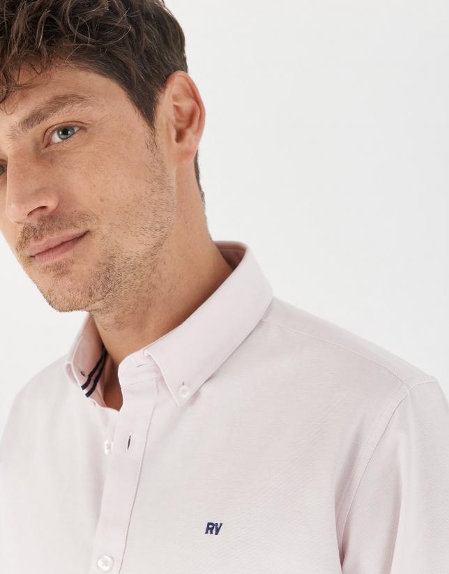 Camisa sport algodón Oxford rosa