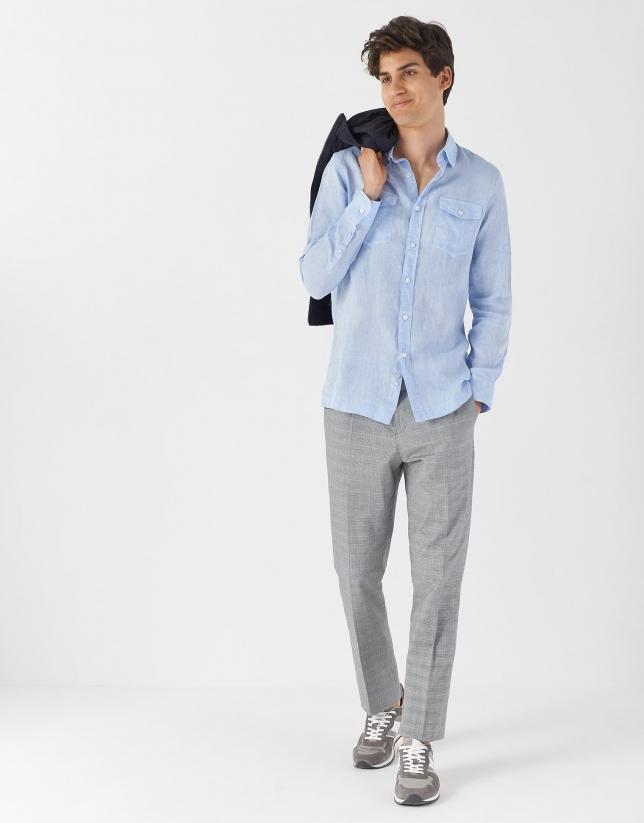 Light blue linen shirt