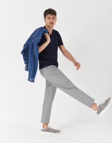 Polo tricot algodón azul marino