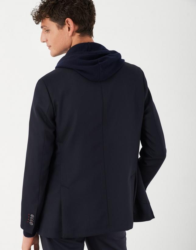 Blue structured wool blazer