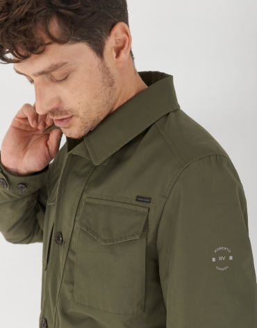 Khaki green cotton Safari jacket