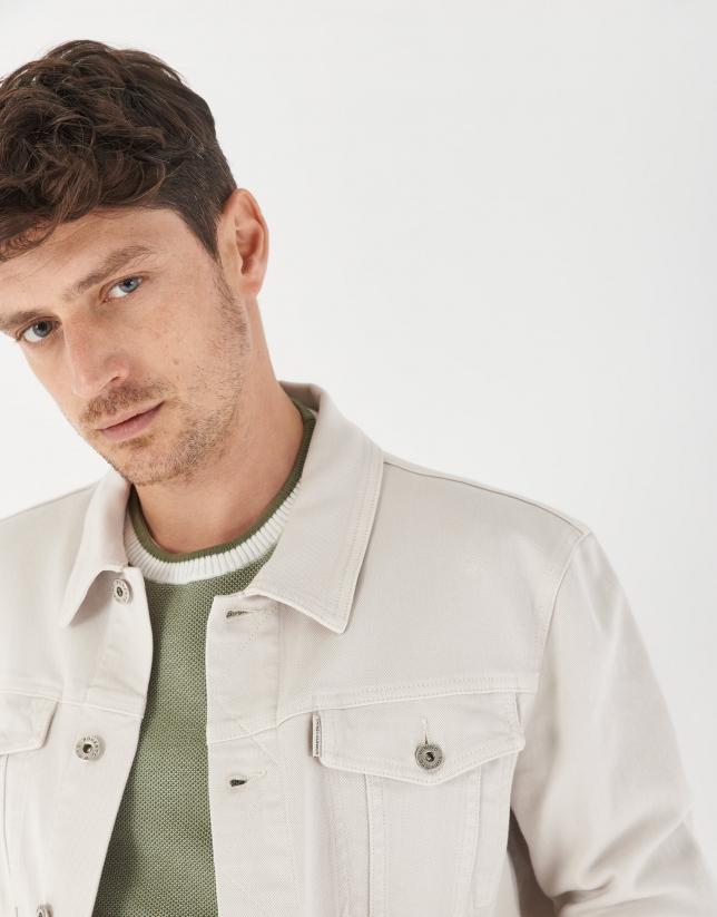 Cream cotton jean jacket