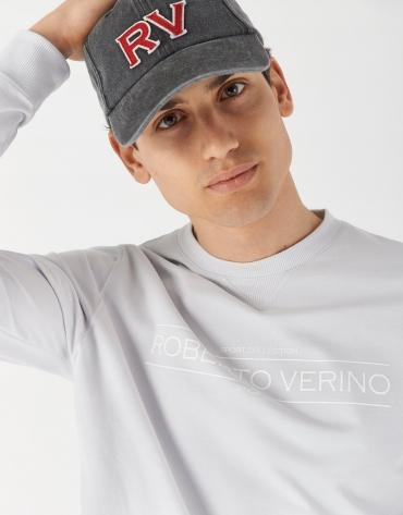 Jersey sudadera algodón gris logo