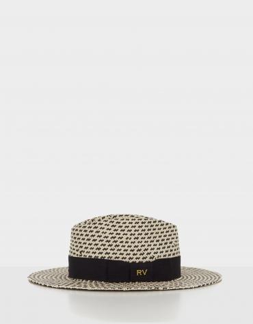 Two-tone black hat