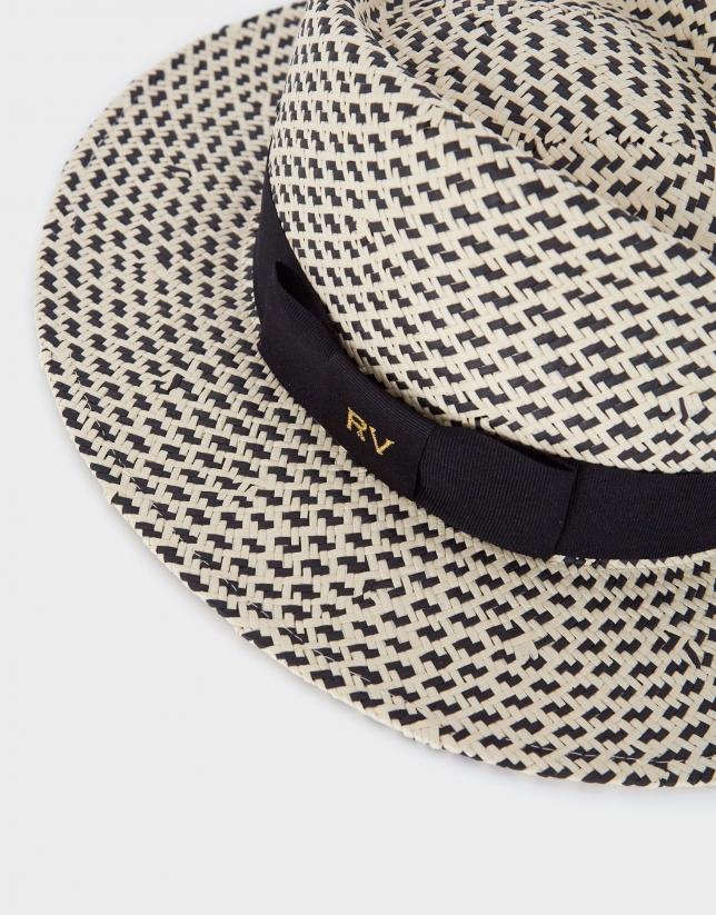 Sombrero bicolor negro