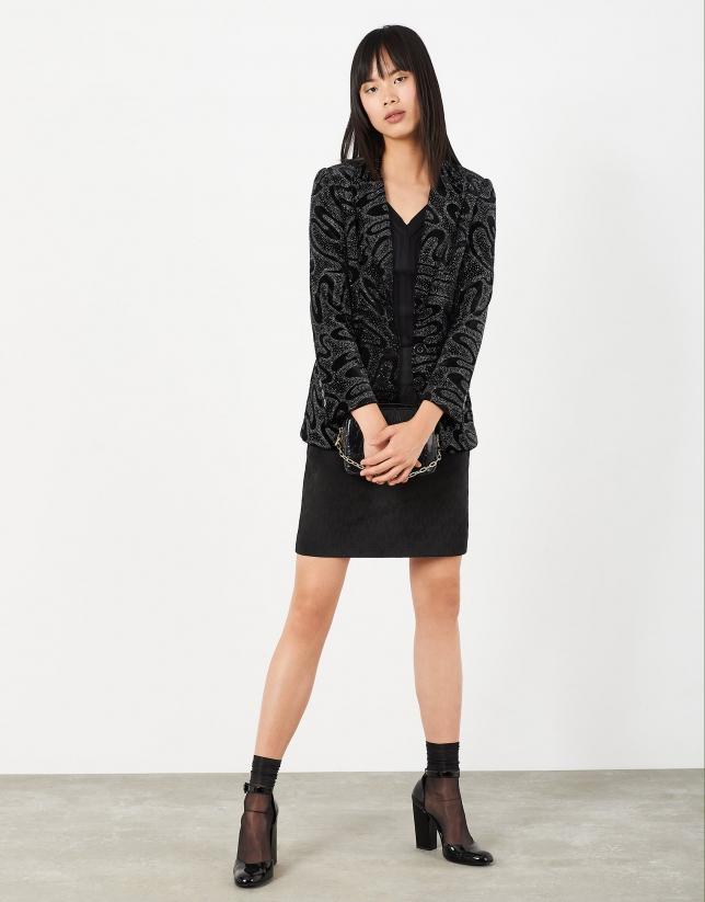 Short RV jacquard skirt