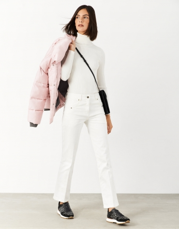 White denim pants with four pockets