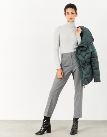 Gray vigoré straight pants
