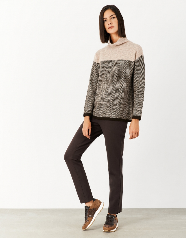 Brown knit pants