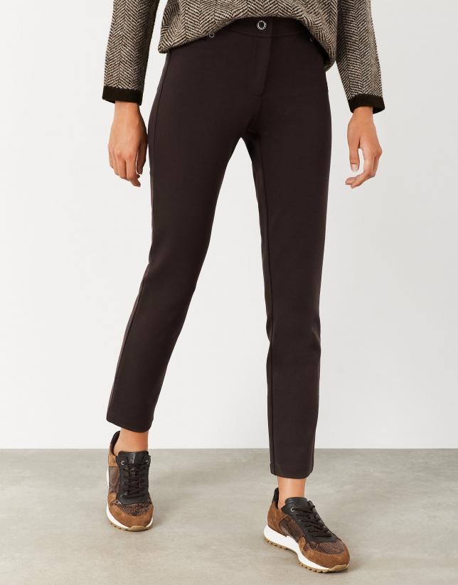 Pantalón punto marrón