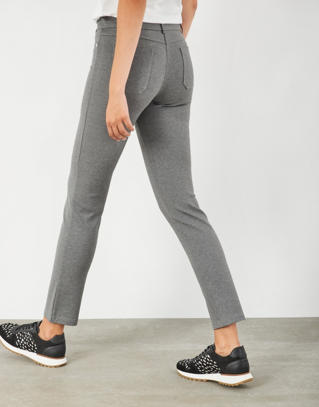 Gray knit pants