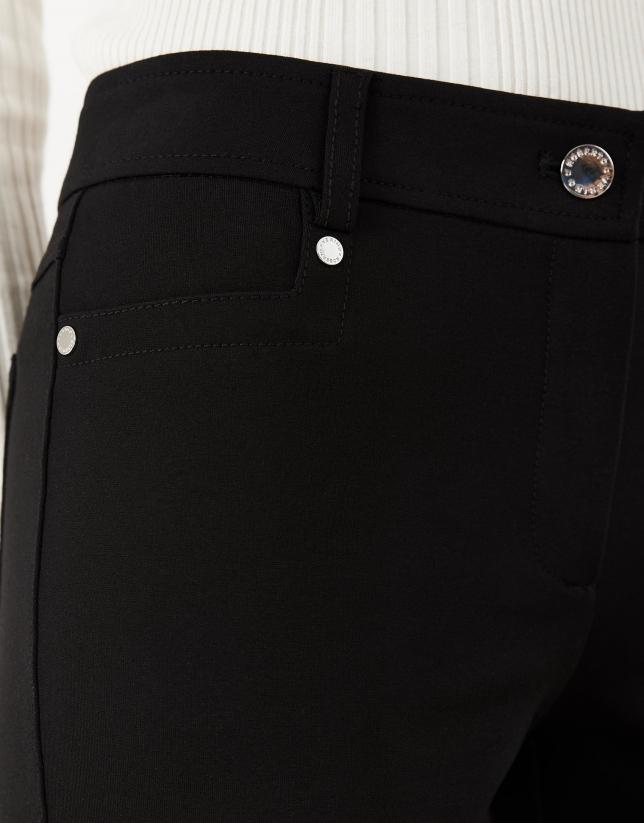 Black knit pants