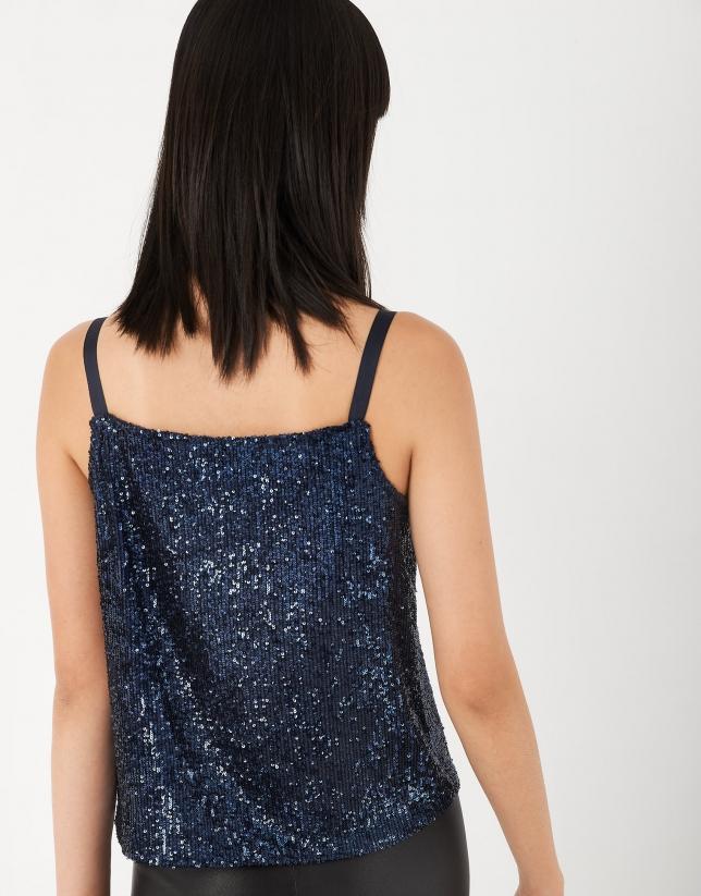 Blue top with sequins