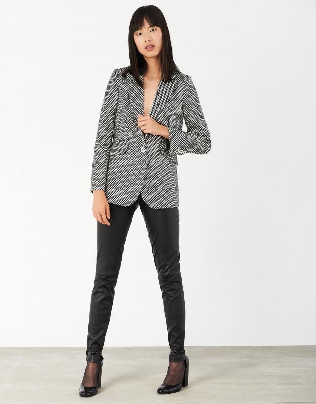 Sport coat with shiny silver finish