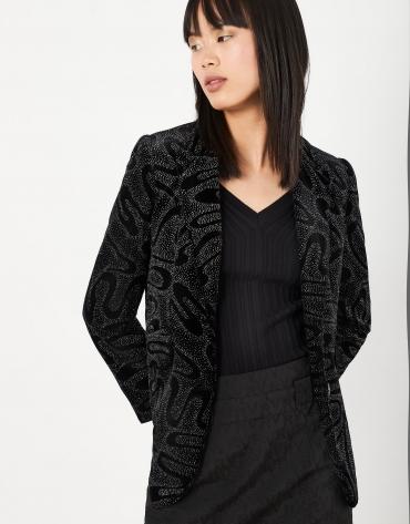 Black sport coat with shiny finish
