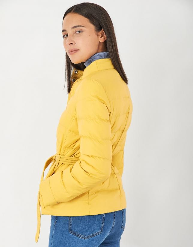 Short yellow windbreaker