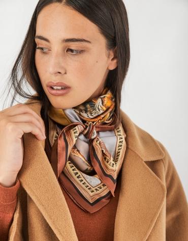 Beige three-quarter wool coat