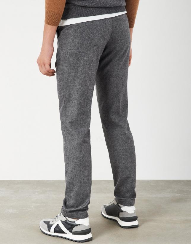 Pantalón cintura elástica gris