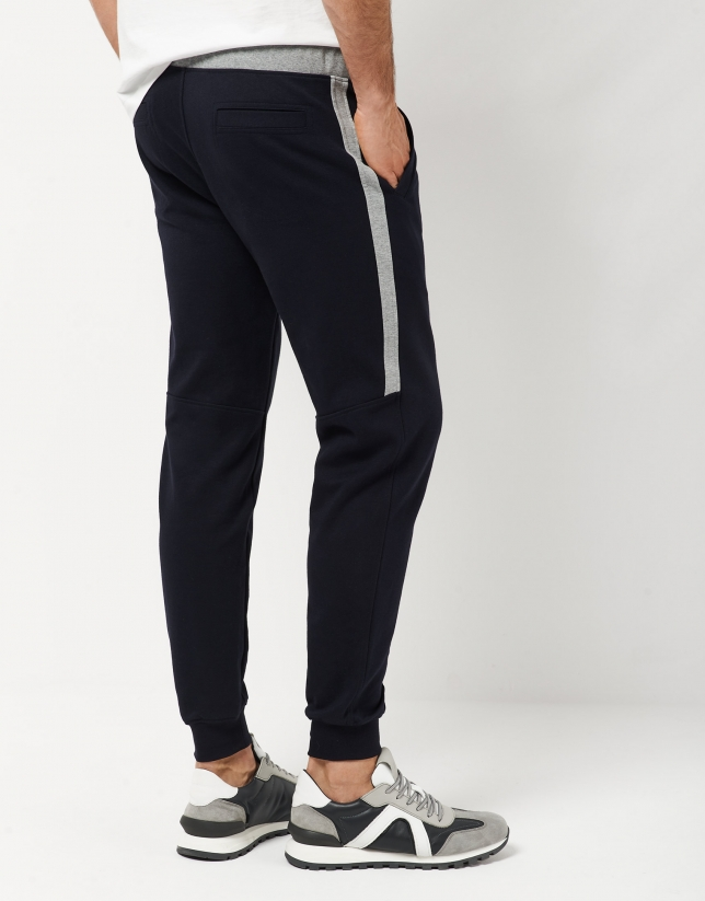 Blue jogging pants