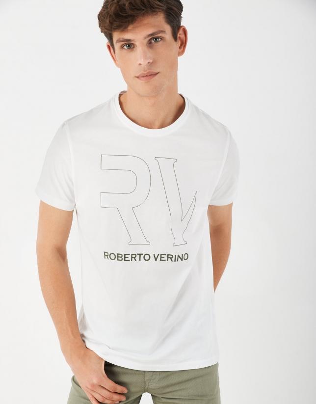 White top with khaki RV logo