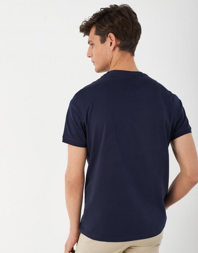 Camiseta marino logo RV blanco
