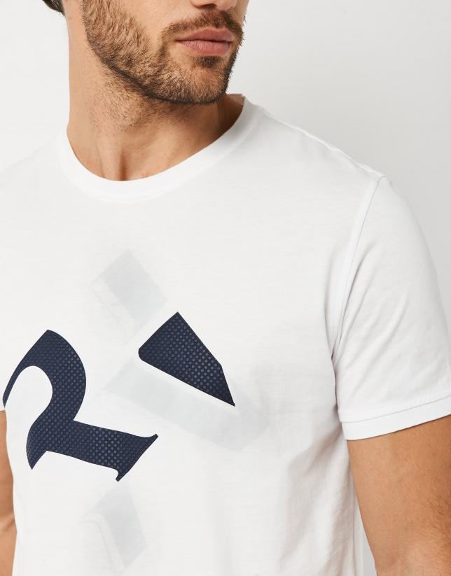 Camiseta blanca logo RV marino