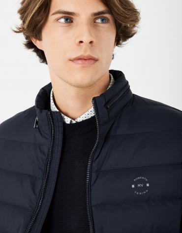 Light navy blue quilted vest