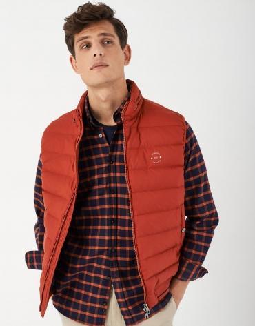 Light orange quilted vest
