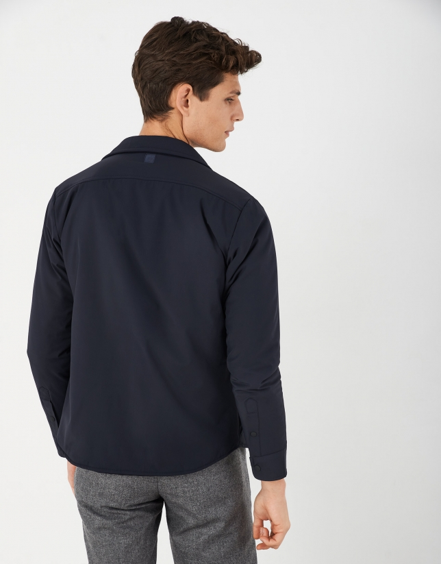 Navy blue tech overshirt