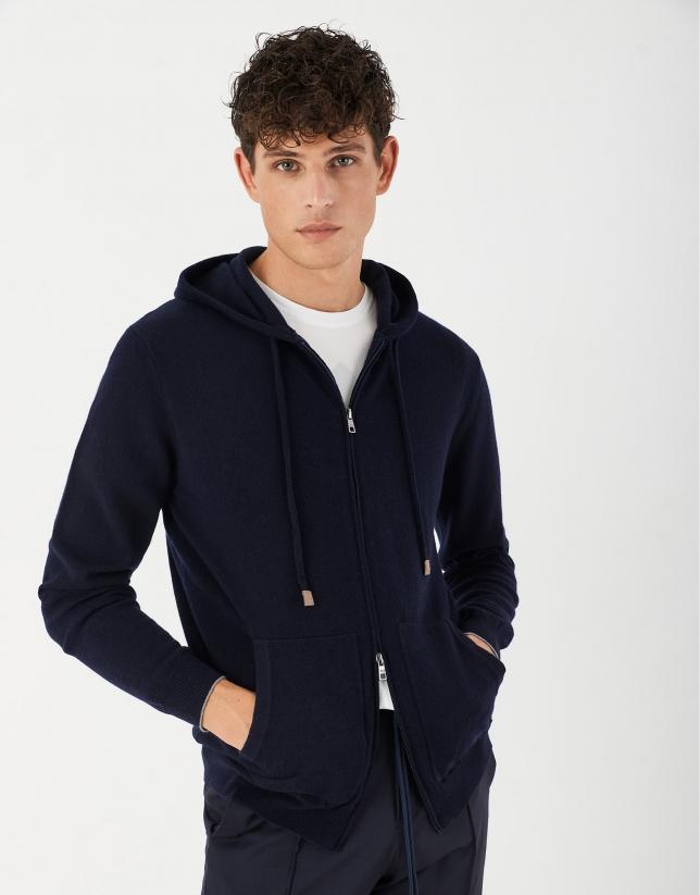 Navy blue knit jacket