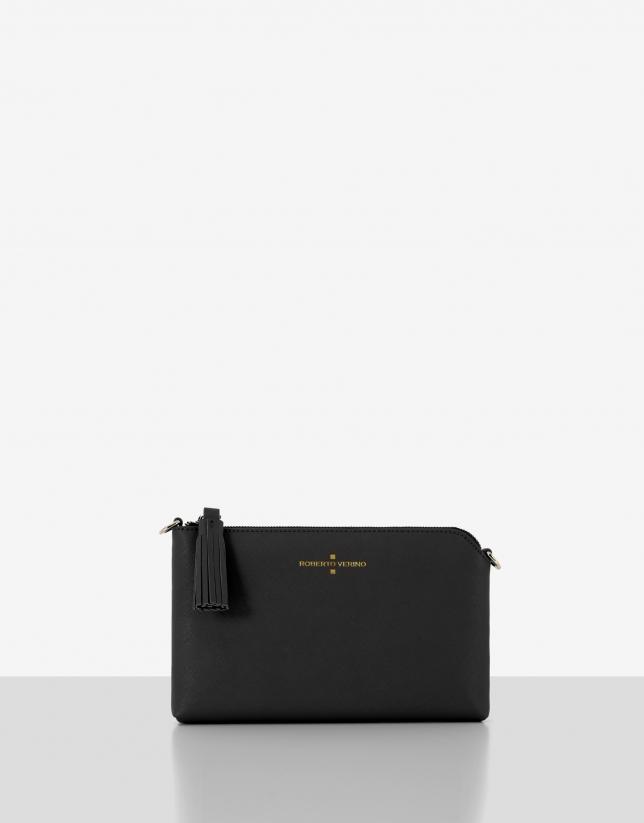 Black saffiano leather Lisa Nano clutch bag