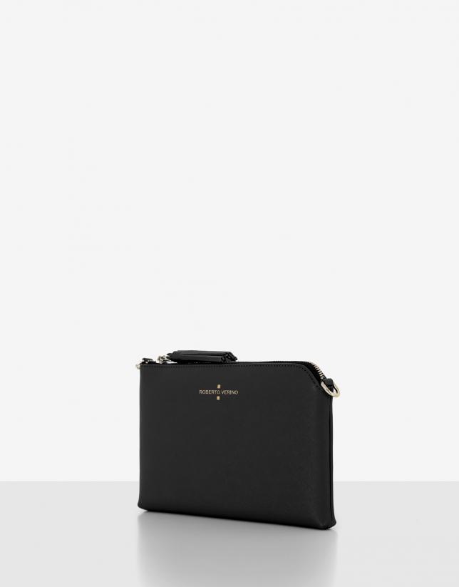 Bolso clutch Lisa Nano piel saffiano negro