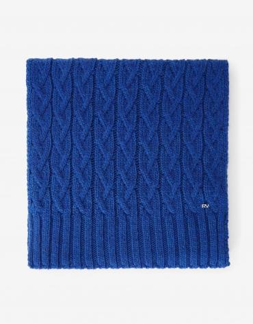 Bufanda lana y alpaca ochos azul