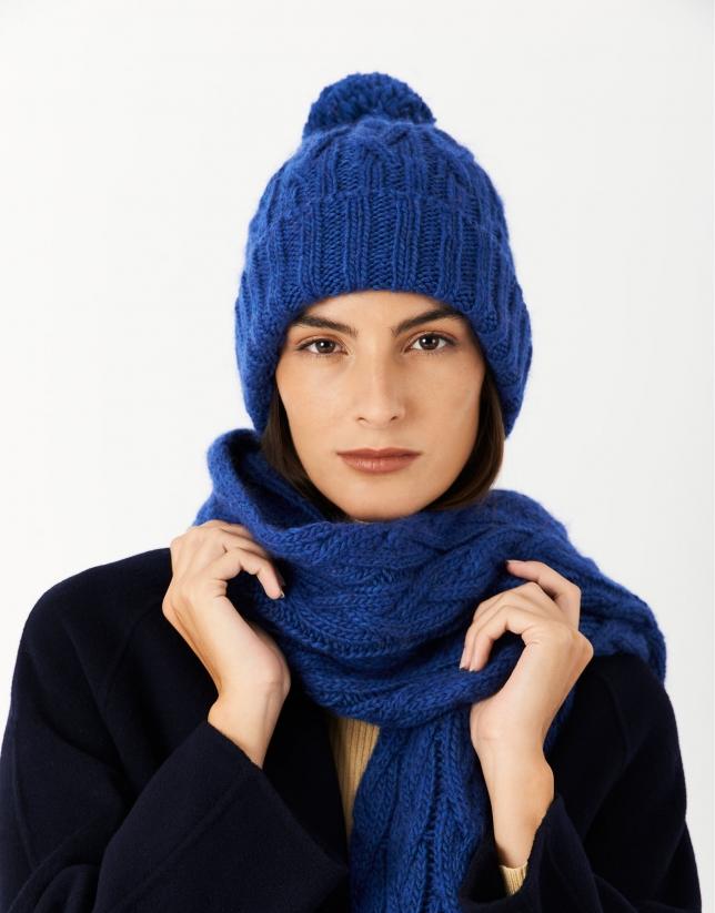 Gorro lana ochos azul