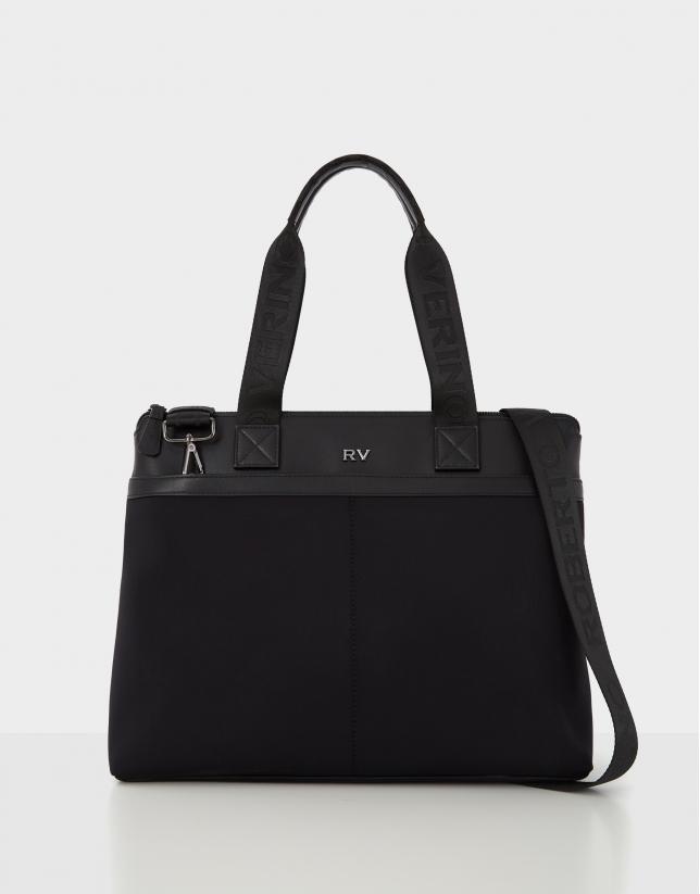 Neox men's  leather and neoprene shopping bag