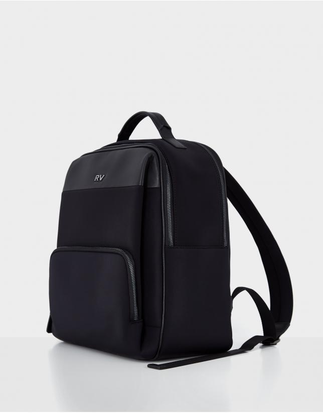 Mochila Neopreno y piel negra Neox Backpack