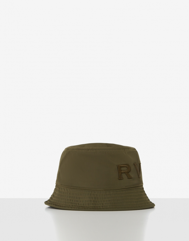 Green nylon bucket cap