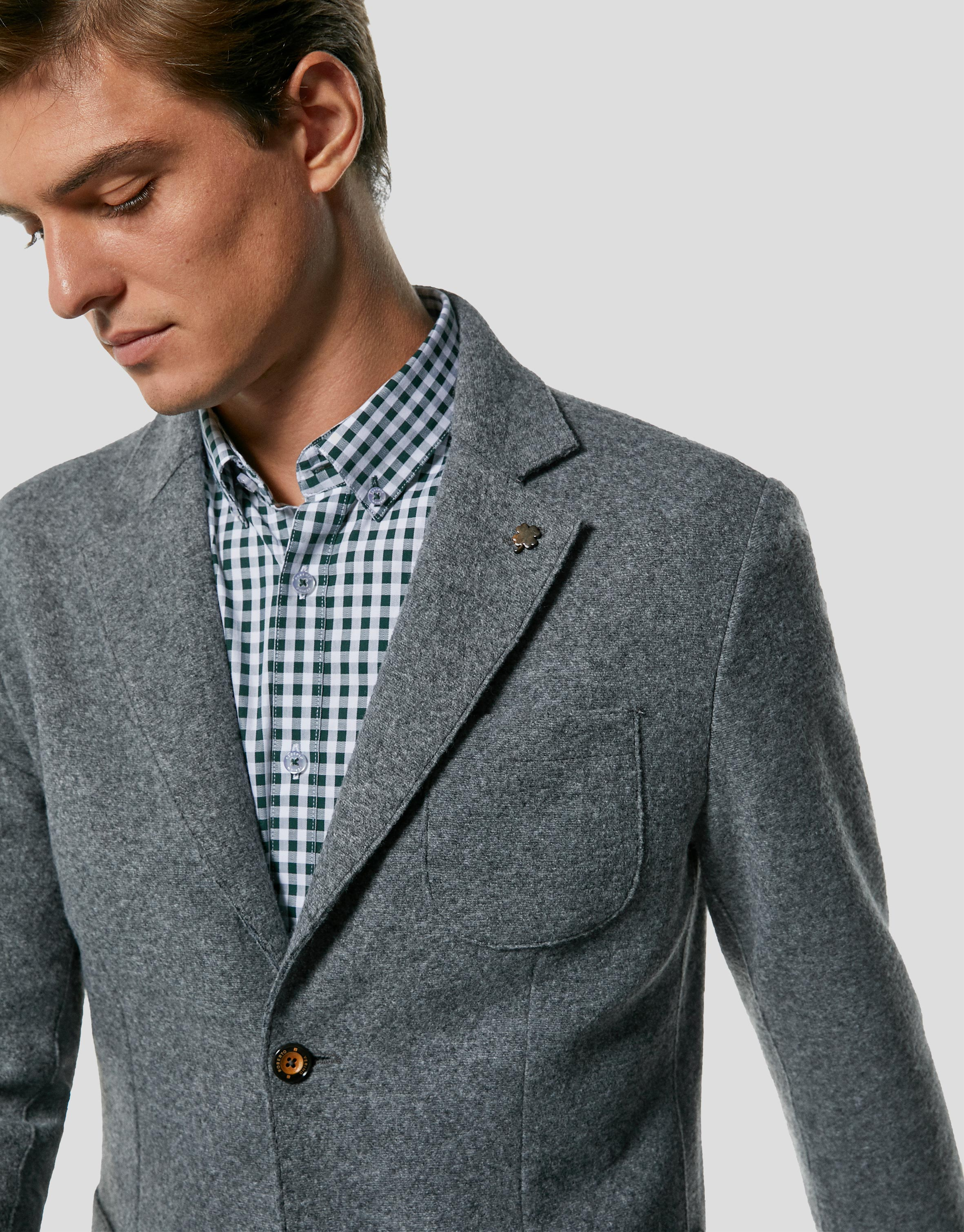 Gray melange wool sport jacket